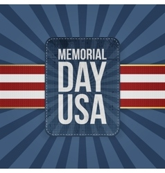 Memorial day usa holiday sign vector
