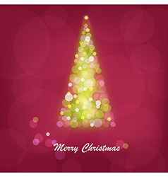 Abstract bright christmas tree vector