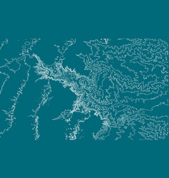 abstract earth relief map generated vector image