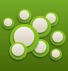 Abstract green brochure background with circles vector image vector image