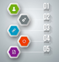 abstract infographic design Workflow layout vector image vector image