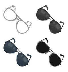 aviator sunglasses icon in cartoon style isolated vector image