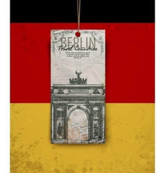 Berlin arch symbol hand drawn pencil sketch vector