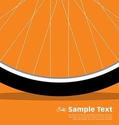 Bike poster wheel vector