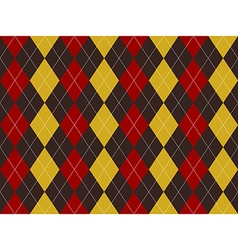 Brown red yellow argyle texture seamless pattern vector