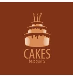 cake logo vector image