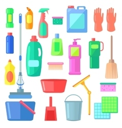 Cleaning different icons of cleaning mean kinds vector
