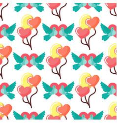 dove birds seamless pattern background birdie vector image
