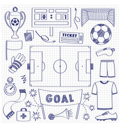 football dodle set vector image