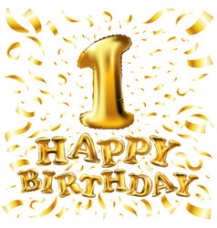 happy birthday one first maiden top premier vector image