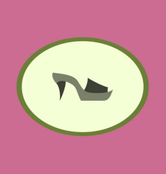 Icon in flat design fashion footwear flip flops vector