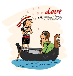 Love in venice vector