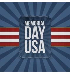 Memorial day usa holiday sign vector