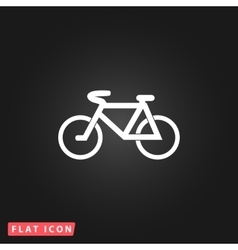 Mountain bike flat icon vector image
