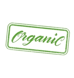 Organic stamp with hand drawn lettering isolated vector