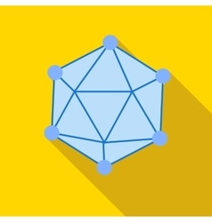Polyhedron icon in flat style vector image