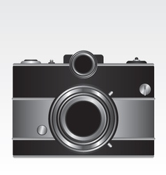 Retro black camera vector image vector image