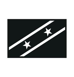 Saint Kitts and Nevis flag monochrome on white vector image