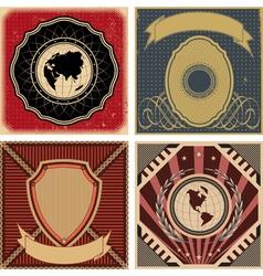 Set of vintage poster backgrounds vector image