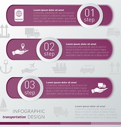 Template transportation infographic icon and steps vector