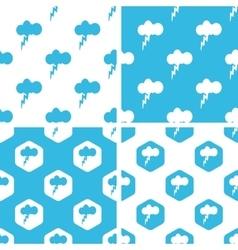 Thunderbolt patterns set vector
