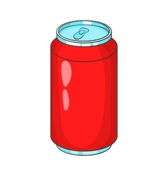 Aluminum beverage bank icon cartoon style vector