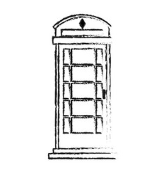 blurred silhouette london phone booth vector image