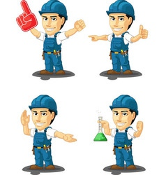 Technician or repairman mascot 13 vector