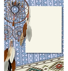 Dream catcher card vector