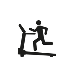 Cross trainer machine icon running symbol vector