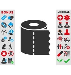 Toilet paper roll icon vector
