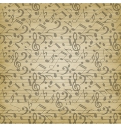 Notes seamless pattern vector