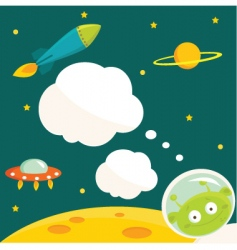 alien animation vector image vector image