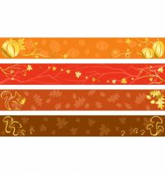 Autumn banners in warm colors vector