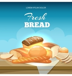 Bread concept background bakery poster vector
