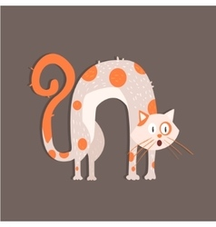 Cat with arched back image vector