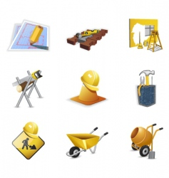 construction tools vector image vector image