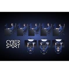 Cyber sport design vector