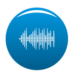 Equalizer effect radio icon blue vector