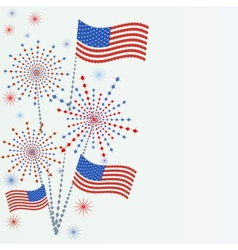 Firework in honor of independence day vector