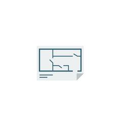 Flat icon floor plan element vector