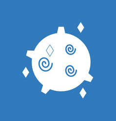 Icon spinning satellite vector
