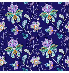 indian pattern 01 vector image vector image