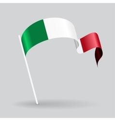 Italian wavy flag vector image vector image