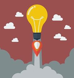 Lightbulb idea rocket vector