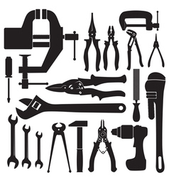 locksmith tools set vector image