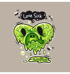Love Sick vector image vector image