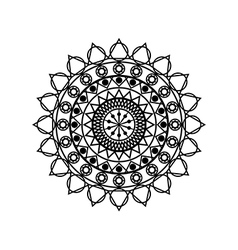 Mandala Geometric pattern in Buddhist and Hindu vector image
