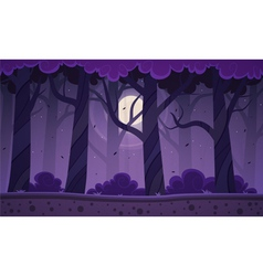 Night forest background vector