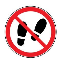 No shoes sign warning vector